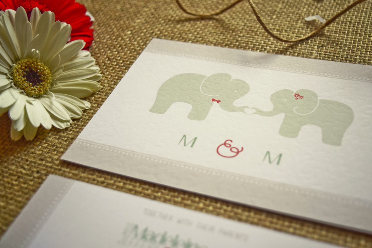Elephant Love - Invitation